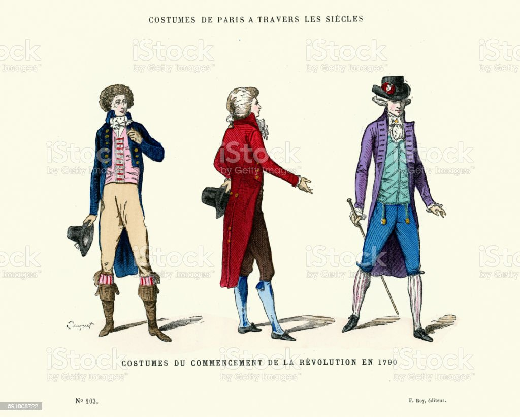 History of Fashion Mens Costumes during the French Revolution royalty-free history of fashion mens & History Of Fashion Mens Costumes During The French Revolution Stock ...