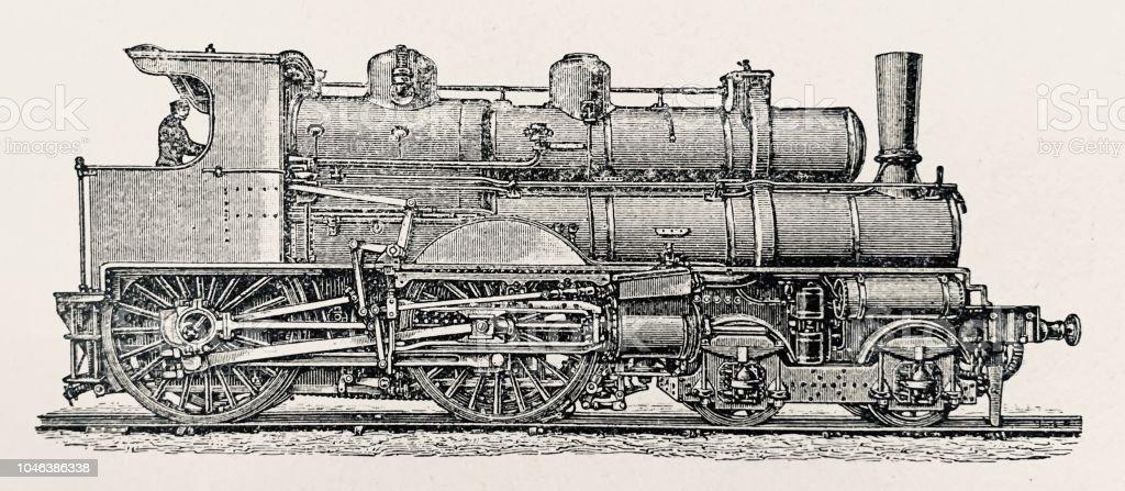 History Of The Railway Boiler Locomotive Stock Vector Art & More ...