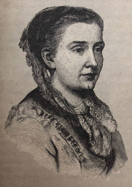 History of the United States - Famous Women - Julia Ward Howe From Daughters of America 1882 suffragist stock illustrations
