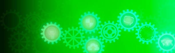 高科技數位技術和工程向量藝術插圖