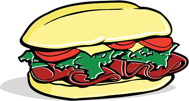 hoagie!!! - sub sandwich stock illustrations, clip art, cartoons, & icons