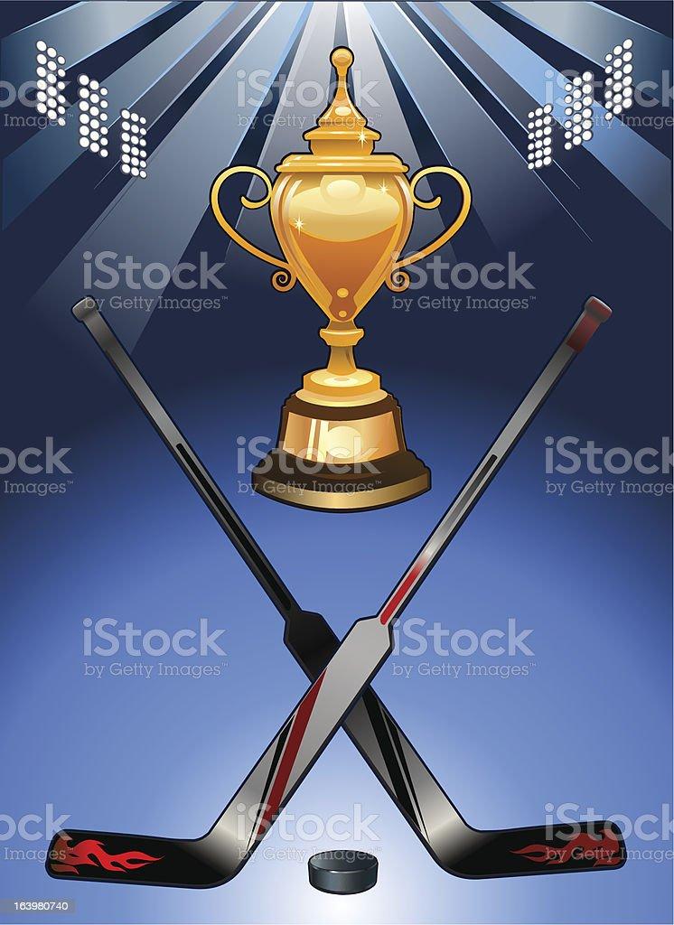 Hockey Cup royalty-free stock vector art