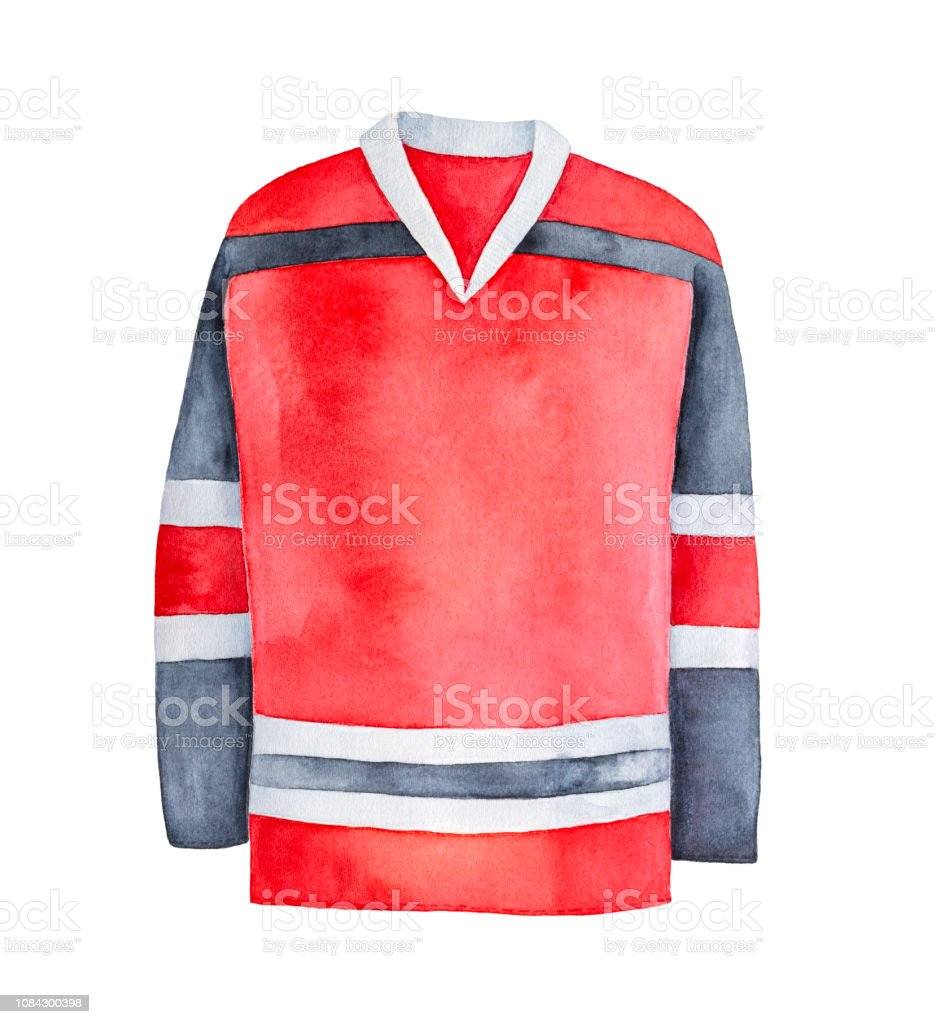 Hockey Jersey Illustration One Single Object Can Be Used