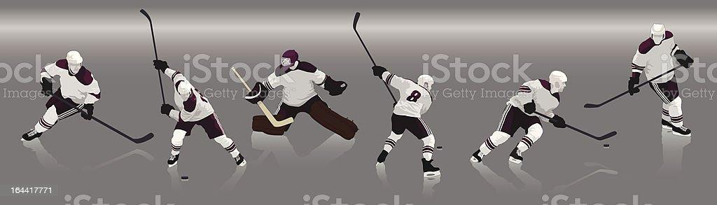 Reproductores de hockey - ilustración de arte vectorial