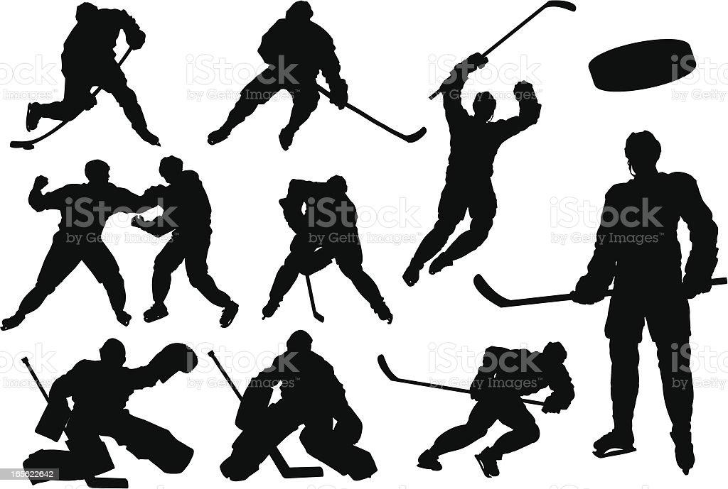 Hockey-Silhouetten – Vektorgrafik