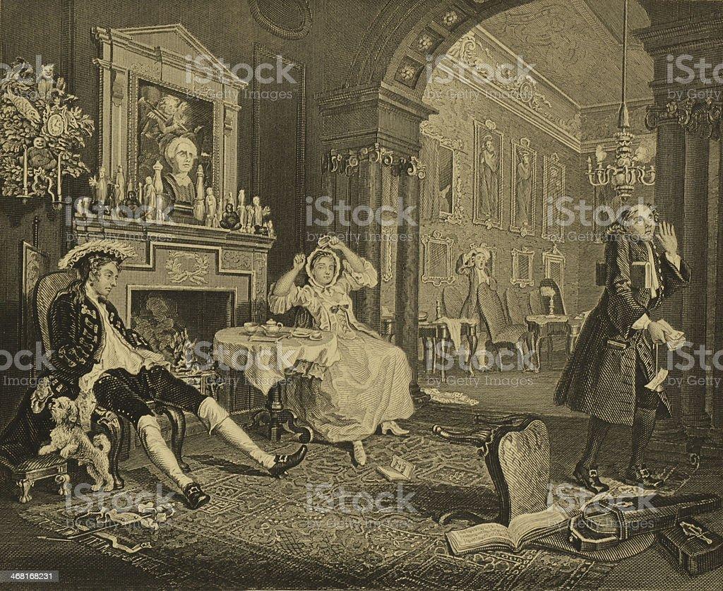 W. Hogarth art royalty-free stock vector art