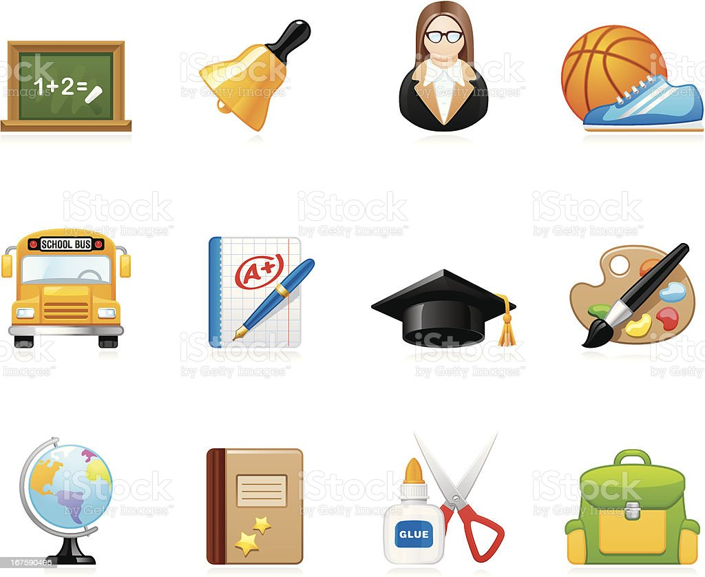 Hola icons - Education and School royalty-free stock vector art