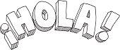 Hola Text Drawing