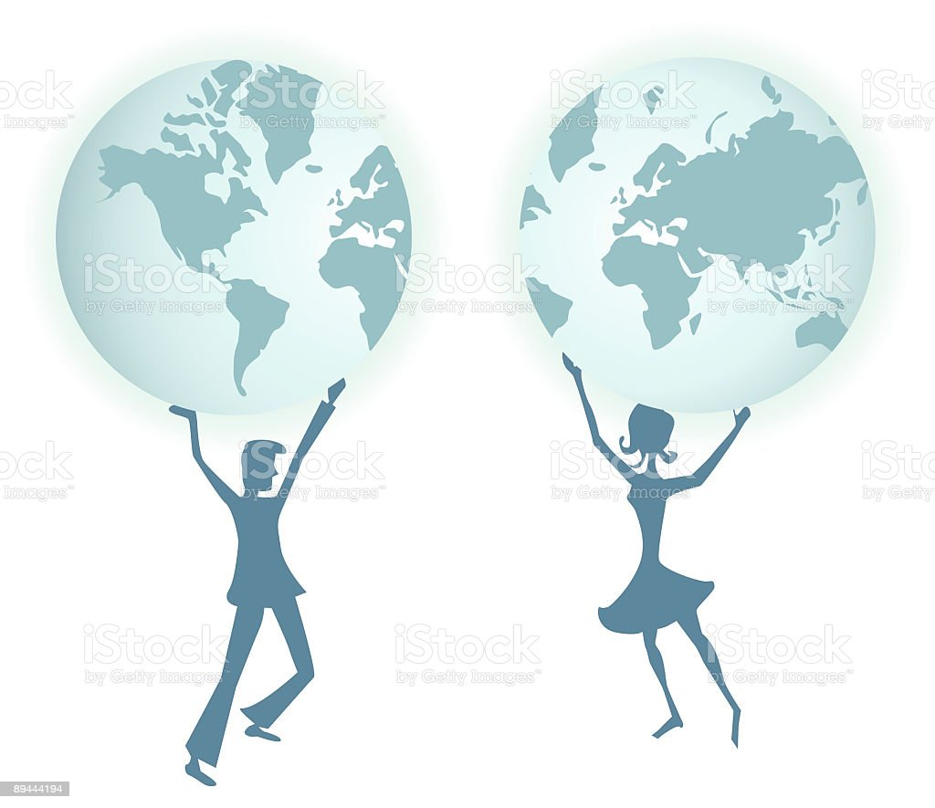 Holding the World royalty-free holding the world stock vector art & more images of balance