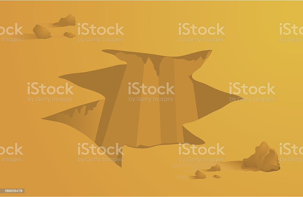 Hole in the Ground royalty-free stock vector art