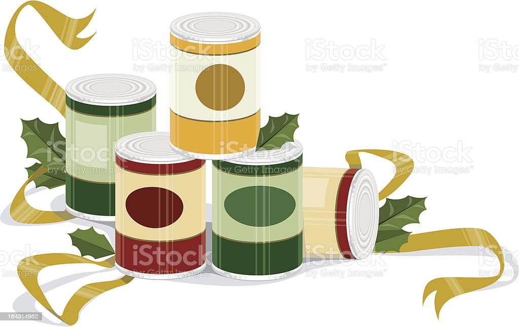 Holiday Canned Goods vector art illustration
