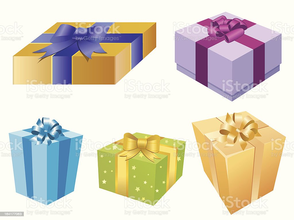 Holiday gift boxes royalty-free stock vector art