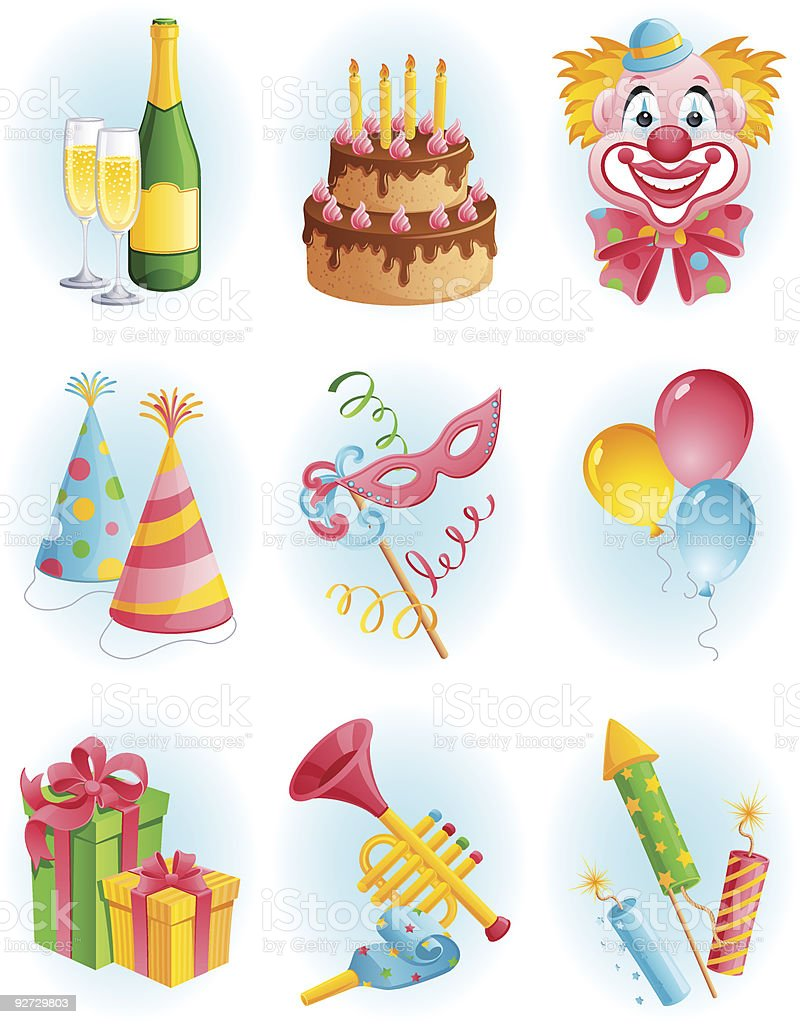 holiday icons royalty-free stock vector art