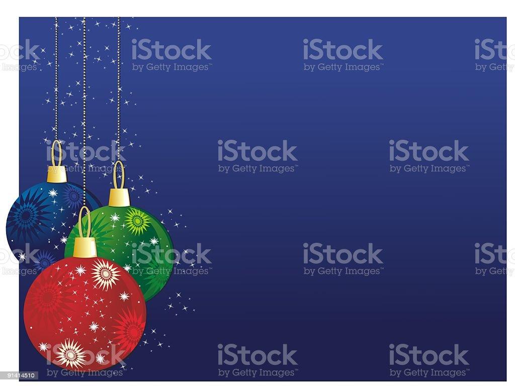 Holiday Ornaments royalty-free stock vector art