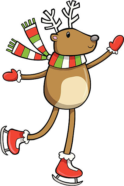 Holiday Reindeer Vector vector art illustration