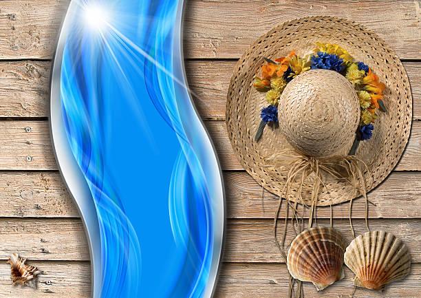 ilustrações de stock, clip art, desenhos animados e ícones de fundo de férias mar - mulher natureza flores e piscina