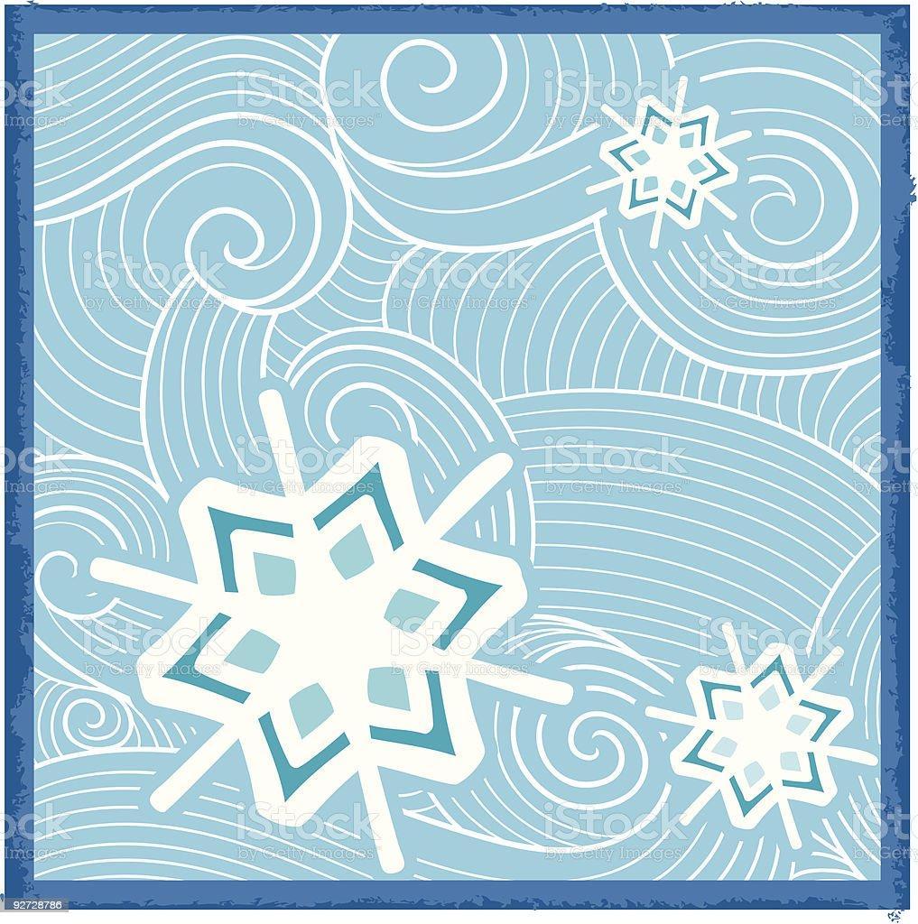 Holiday Snowflakes Vector Series royalty-free stock vector art