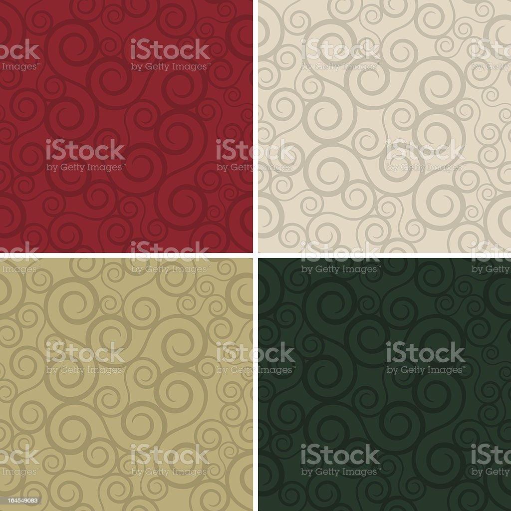 Holiday Swirlz (Seamless) royalty-free stock vector art
