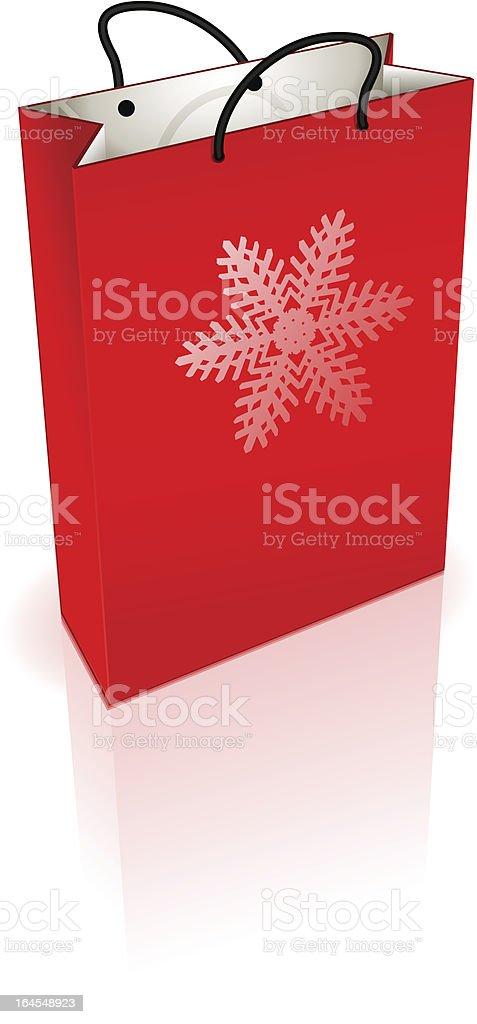 Holidays Shopping Bag (vector) royalty-free stock vector art