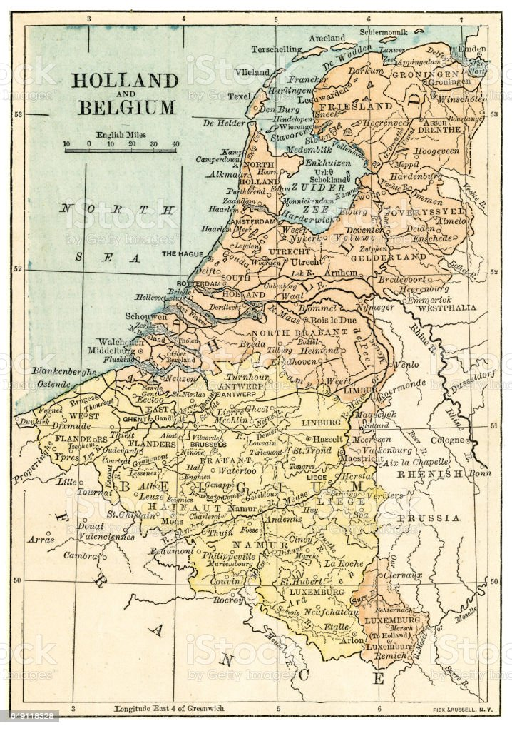 holland and belgium map 1875 and belgium map 1875 royalty free holland and belgium map