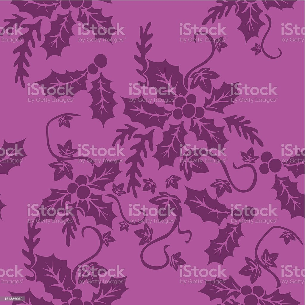 Holly & Ivy Repeat Swatch royalty-free holly ivy repeat swatch stock vector art & more images of backgrounds