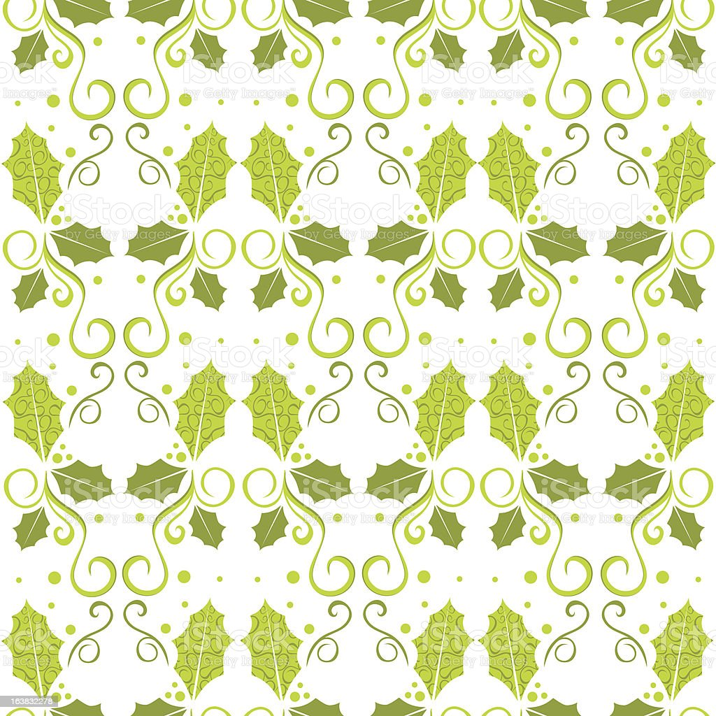 holly party background vector art illustration