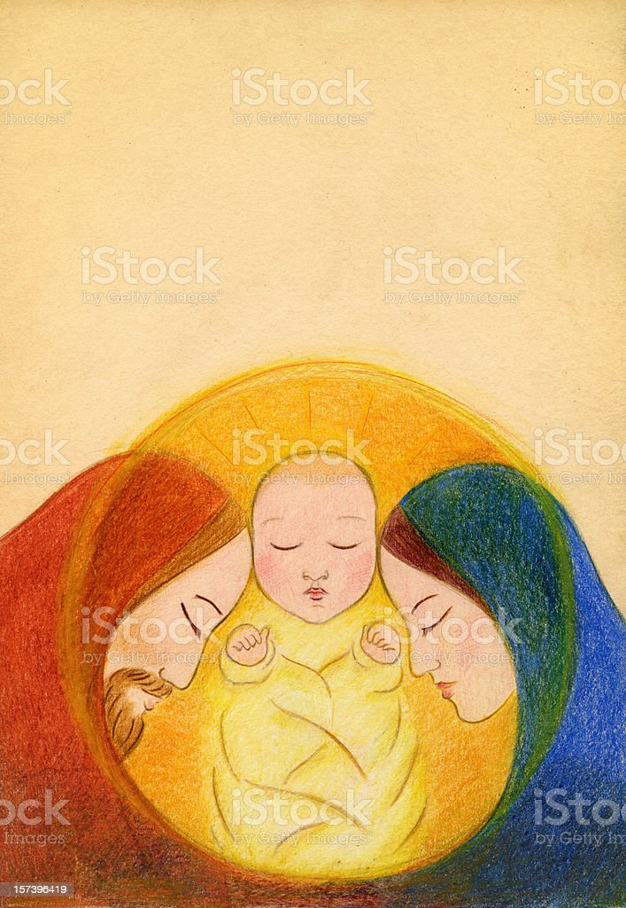 Holy Family royalty-free holy family stock vector art & more images of 0-11 months