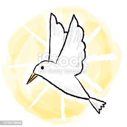 istock Holy Spirit Dove Drawing 1276476656