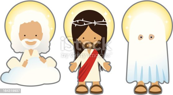 holy trinity characters stock vector art  u0026 more images of