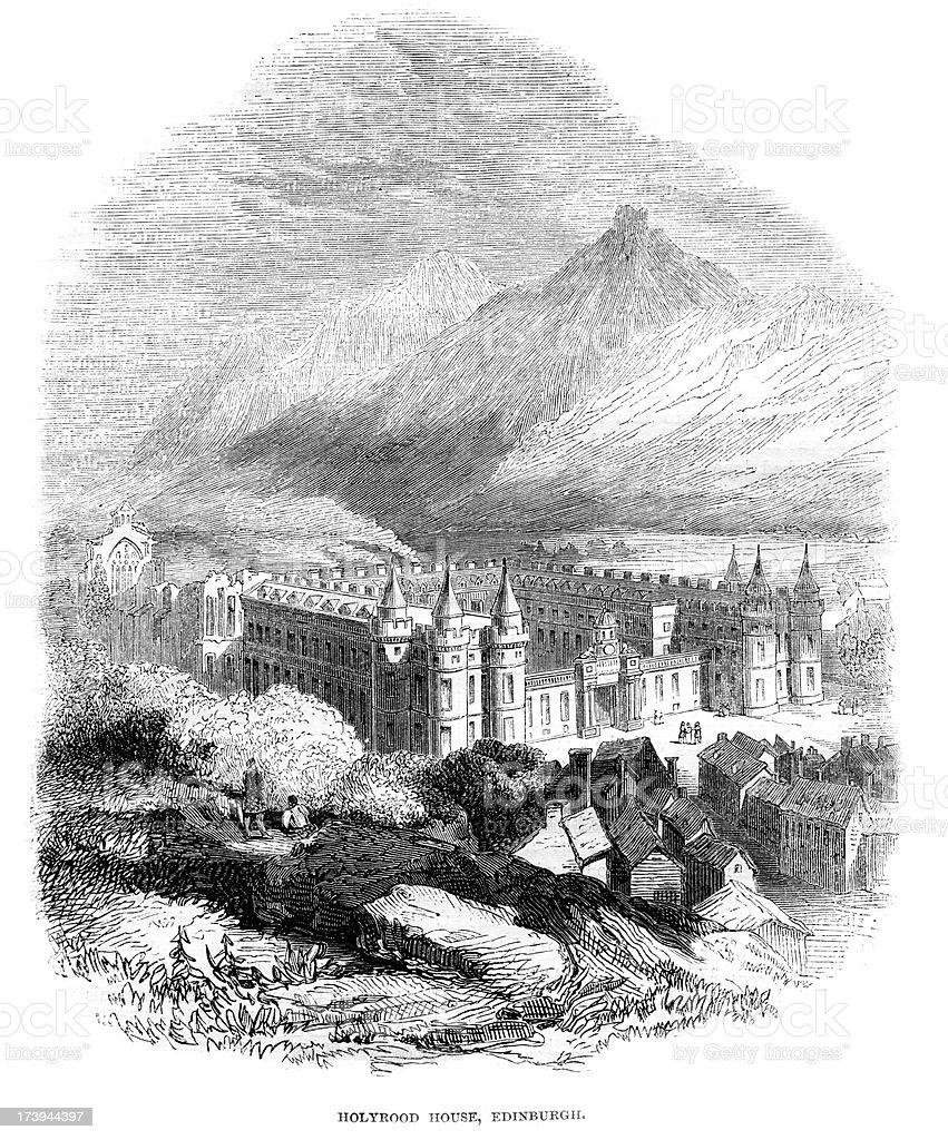 Holyrood Palace Edinburgh Scotland royalty-free holyrood palace edinburgh scotland stock vector art & more images of 19th century