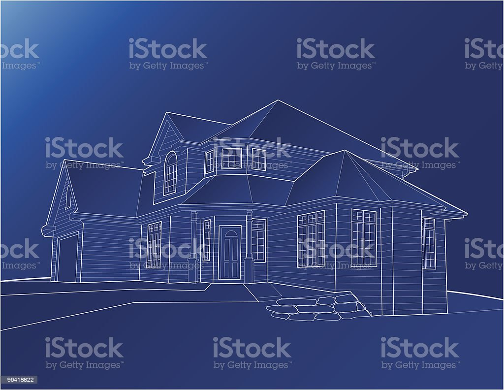 Home Blueprint [vector] royalty-free home blueprint vector stock vector art & more images of architecture