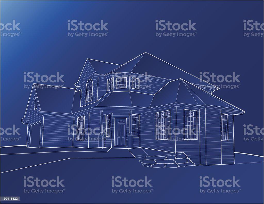Casa modelo [ vetor ] - ilustração de arte em vetor