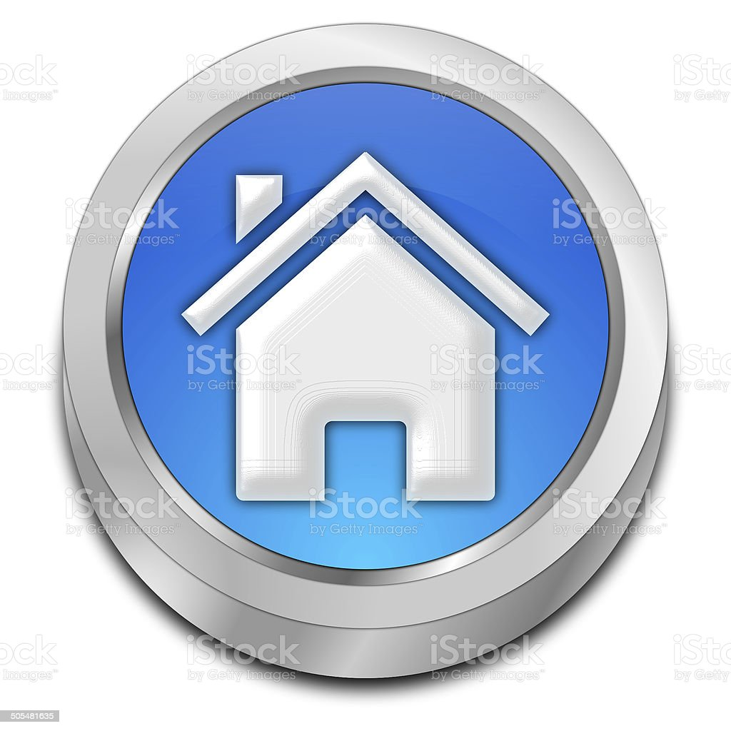 Home Button vector art illustration