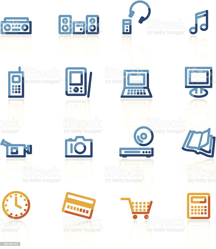 home electronics royalty-free stock vector art