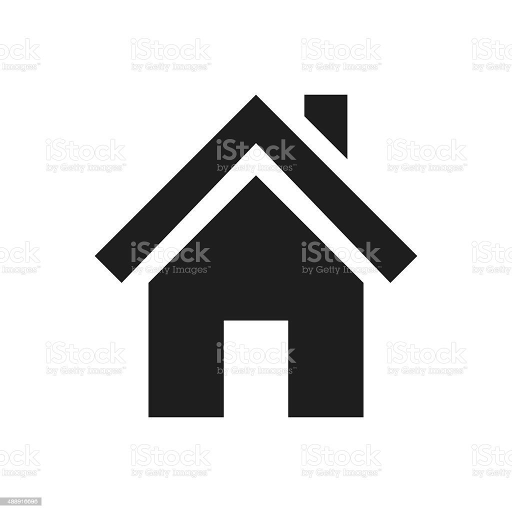 Home icon on a white background. royalty-free home icon on a white background stock vector art & more images of 2015