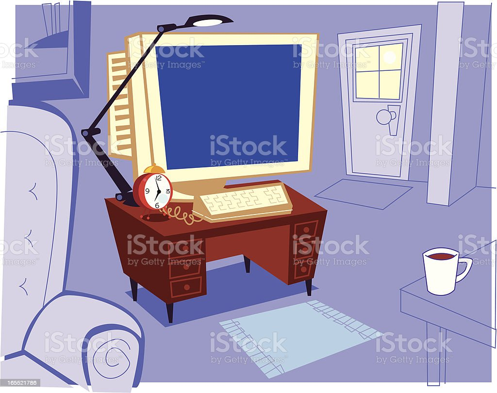 Home Office royalty-free stock vector art