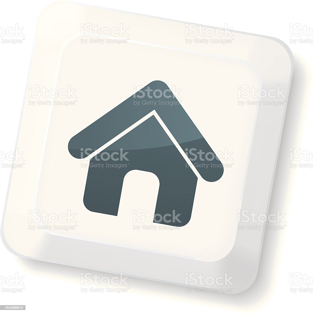 Home Sign Key royalty-free stock vector art