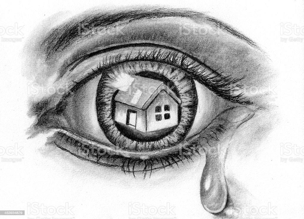 home sketch vector art illustration