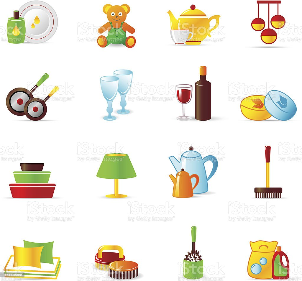 home work and equipment icons royalty-free home work and equipment icons stock vector art & more images of back brush