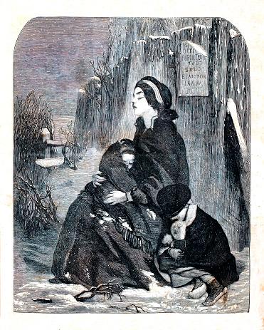 Homeless Family in Winter