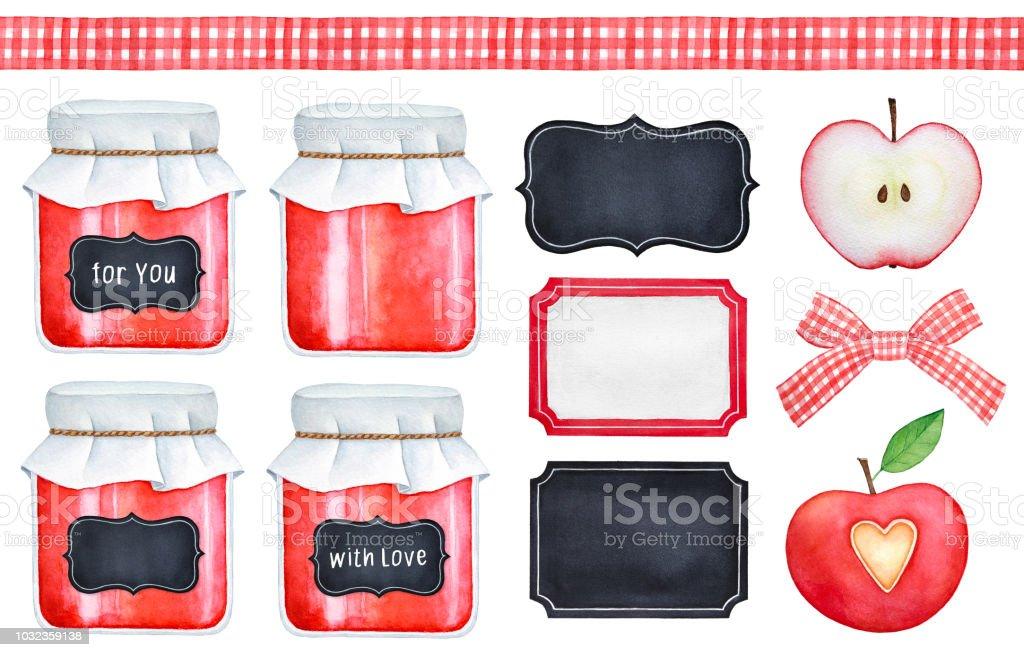 Hausgemachtes Dessertsammlung Glasmarmeladengläser Tafel