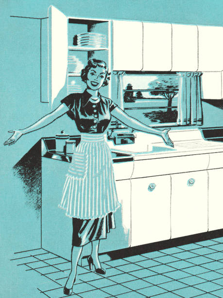 best kitchen maid illustrations, royalty-free vector