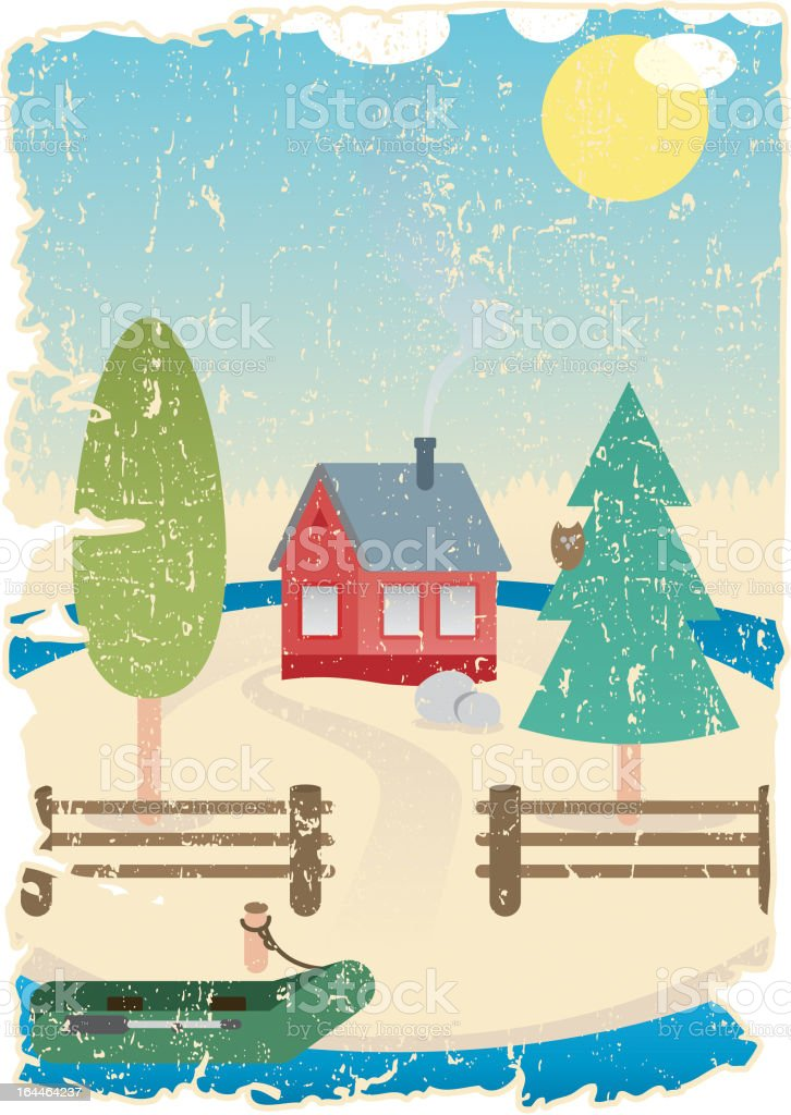 Home...sweet home royalty-free stock vector art
