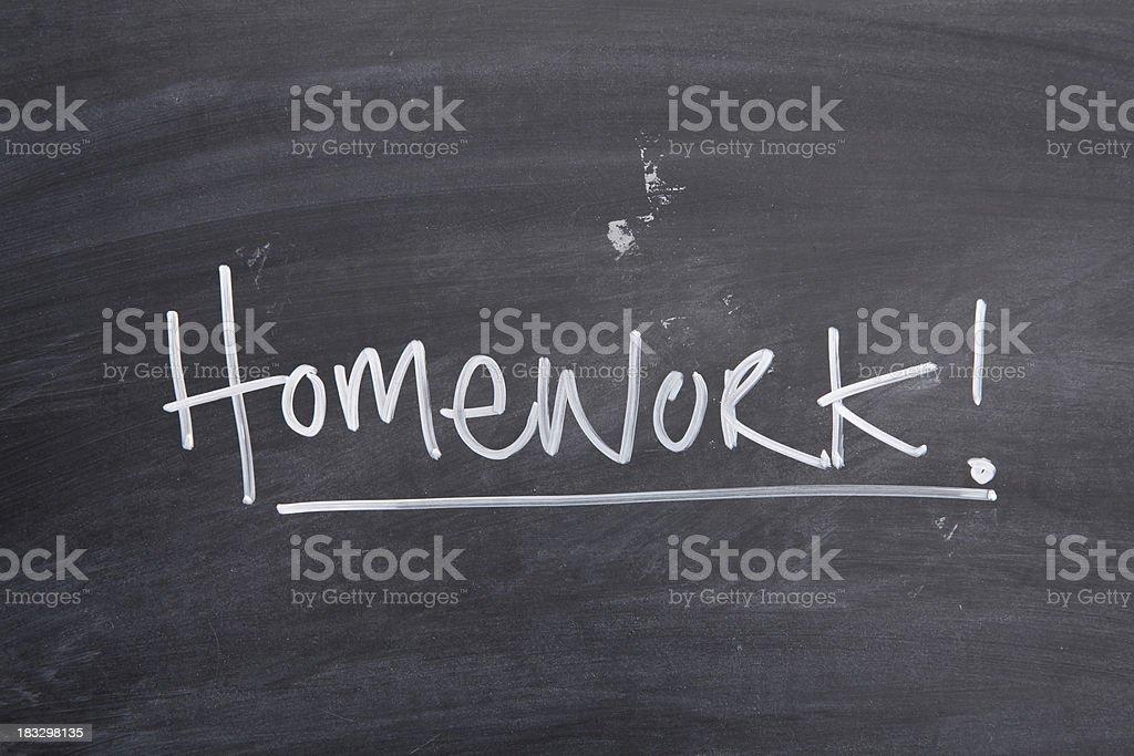Homework vector art illustration