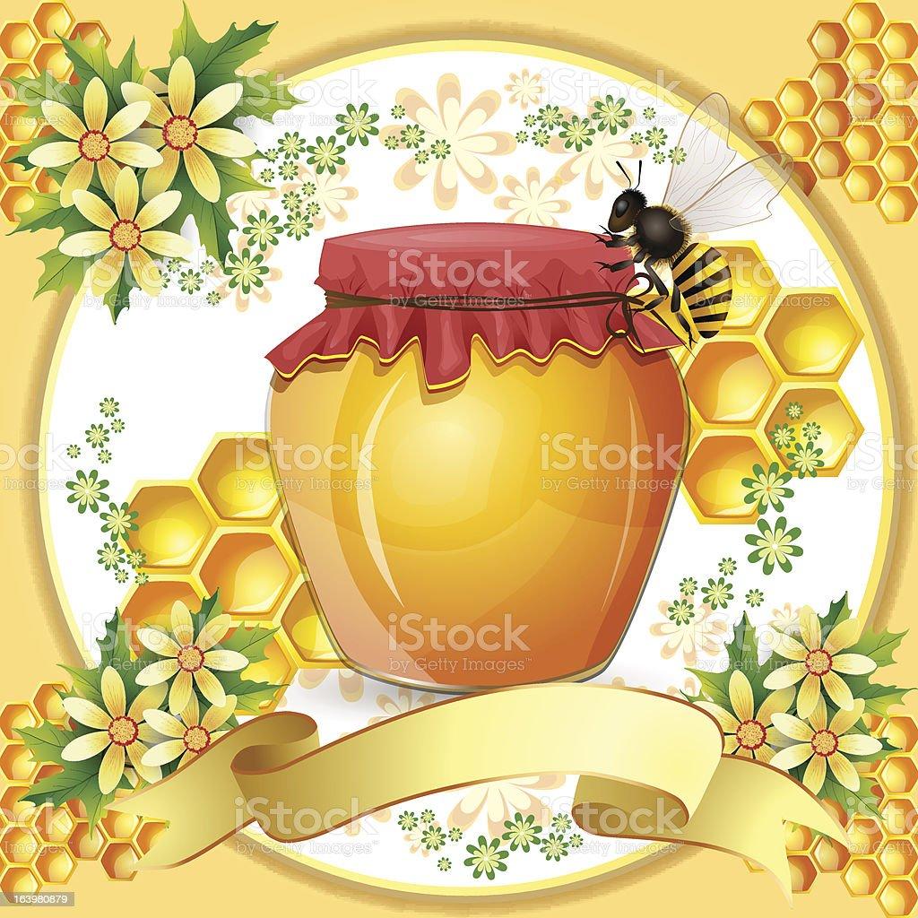 Honey jar royalty-free stock vector art