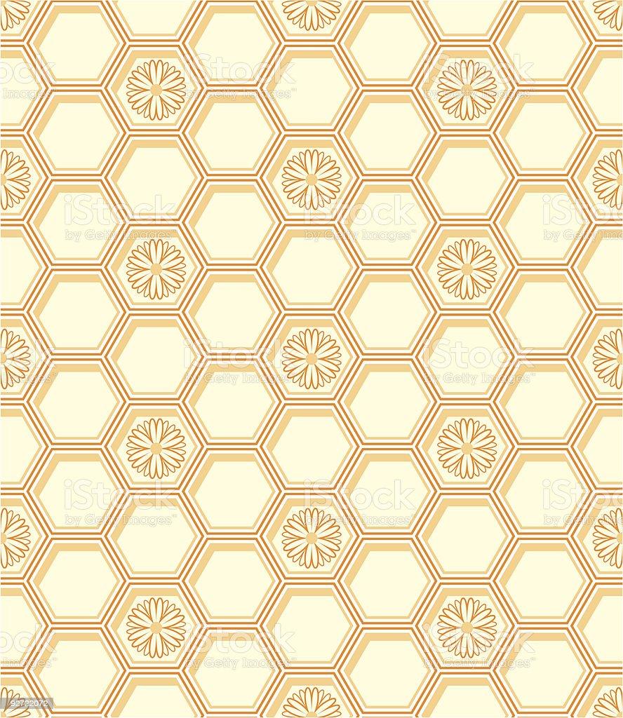 Honeycomb pattern royalty-free stock vector art