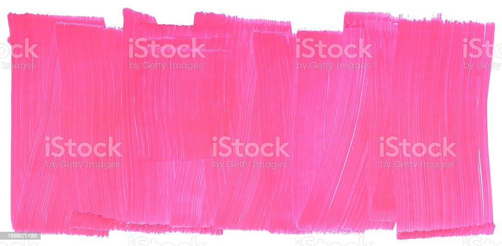 Honeysuckle Pink Painted Brush Stroke Texture Frame vector art illustration