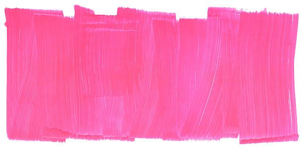 stockillustraties, clipart, cartoons en iconen met honeysuckle pink painted brush stroke texture frame - texture