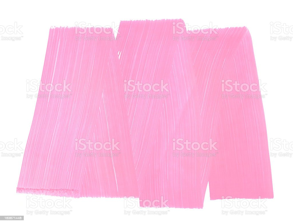 Honeysuckle Pink Painted Rough Frame Texture royalty-free stock vector art