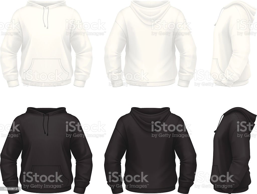 Hoodie with pockets vector art illustration